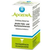 APOZEMA® Nr. 55 Dreiklang Globuli bei akuten Hals- und Rachenschmerzen