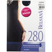 BELSANA 280den Glamour Schenkelstrumpf Größe medium Farbe nachtblau normal