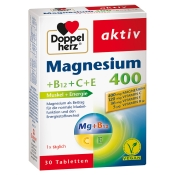 Doppelherz® aktiv Magnesium 400 +B12+C+E