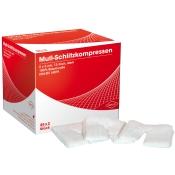 Draco Mull-Schlitzkompressen 12-fach steril 5x5cm