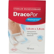 DracoPor Waterproof Wundverband 3,8 cm x 3,8 cm