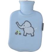 fashy Kinderwärmflasche mit Flauschbezug hellblau