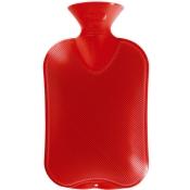 fashy Wärmflasche Doppellamelle Kirschrot