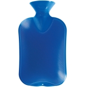 fashy Wärmflasche Doppellamelle Königsblau