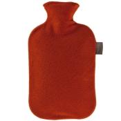 fashy Wärmflasche Vliesbezug Kirschrot