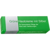 Grüne Hautcreme mit Silber