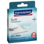 Hansaplast MED Soft Pflaster ohne Silber 1 m x 8 cm