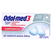 Odol-med3® Samtweiss Zahnpflege-Kaugummi