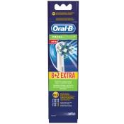 Oral-B® CrossAction® Ersatz-Aufsteckbürsten 8er+2