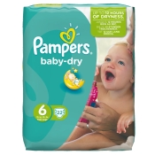 Pampers® baby-dry Gr. 6 Extra Large 15+kg Sparpack