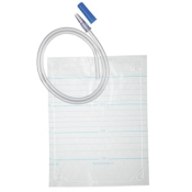 Sekretbeutel mit Rücklaufsperre, 2 liter, steril