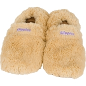 Warmies® Slippies™ Deluxe wärme Pantoffel beige Gr. M (36-40)