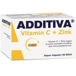 ADDITIVA® Vitamin C + Zink Depot 300 mg Kapseln