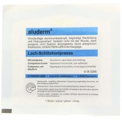 aluderm® Loch-/Schlitzkompresse 8 cm x 9 cm