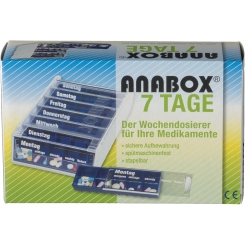 ANABOX® 7 Tage Wochendosierer blau
