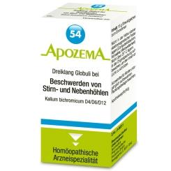 APOZEMA® Nr. 54 Dreiklang Globuli bei Beschwerden v. Stirn- und Nebenhöhlen