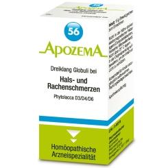 APOZEMA® Nr. 56 Dreiklang Globuli bei akuten Hals- und Rachenschmerzen