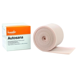 Autosana Kompressionsbinde aus Schaumstoff 10 cm x 2,5 m x 0,3 cm hautfarbend