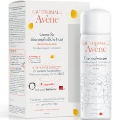 Avène reichhaltige Creme für überempfindliche Haut + Thermalwasserspray 50ml