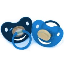 Baby-Frank® Beruhigungssauger Kirschform Gr. 2 6 - 18 Monate blau