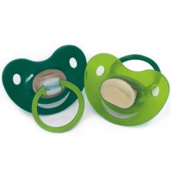 Baby-Frank® Beruhigungssauger Kirschform Gr. 2 6 - 18 Monate grün