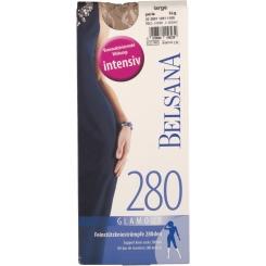 BELSANA 280den Glamour Kniestrumpf Größe large Farbe perle kurz