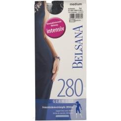 BELSANA 280den Glamour Kniestrumpf Größe medium Farbe schwarz lang