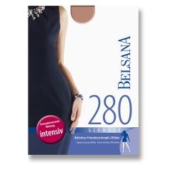 BELSANA 280den Glamour Schenkelstrumpf Größe small Farbe perle lang Plusweite