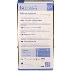 BELSANA Cotton Stützkniestrumpf Gr. 39-41 Farbe denim
