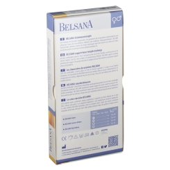 BELSANA Sommer Edt. Stützkniestrumpf Gr. 45-47 Farbe weiß