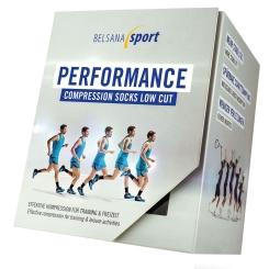 BELSANA Sport Performance Compression Socks Low Cut Gr. 3 (42-44) schwarz