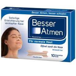 BesserAtmen Nasenstrips beige groß