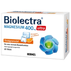 Biolectra® Magnesium 400 mg ultra Trinkgranulat Orange
