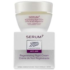 Boots Laboratories SERUM 7 regenerierende Nachtcreme normale Haut