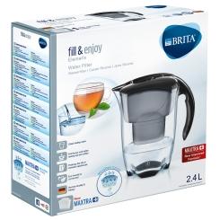 BRITA® fill & enjoy Elemaris Tischwasserfilter 2,4 Liter schwarz