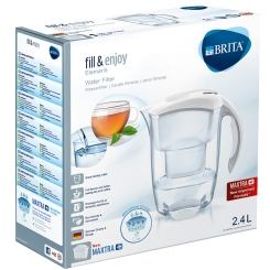 BRITA® fill & enjoy Elemaris Tischwasserfilter 2,4 Liter weiß