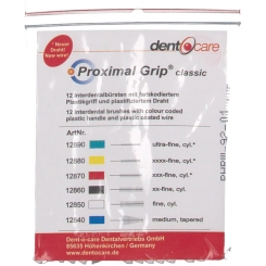 Dent-o-care Proximal Grip fein weiss Interdentalbürste 0,75 mm