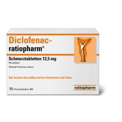 Diclofenac-ratiopharm® Schmerztabletten 12,5 mg