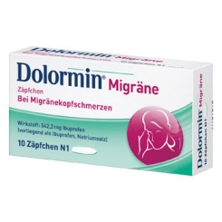Dolormin® Migräne Zäpfchen