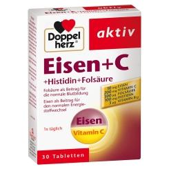 Doppelherz® Eisen + C + Histidin + Folsäure Tabletten