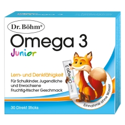Dr. Böhm® Junior Omega 3 Direkt Sticks
