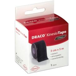 Draco KinesioTape Schwarz 5 cm x 5 m