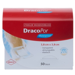 DracoPor Waterproof Wundverband 3,8 cm x 3,8 cm