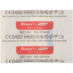 DracoPor Waterproof Wundverband steril 3,8 x 3,8 cm