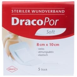 DracoPor Wundverband Soft weiß steril 10 x 8 cm