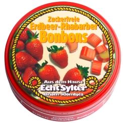 Echt Sylter Bonbons Erdbeer-Rhabarber zuckerfrei