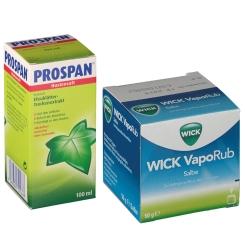 Erkältungsset WICK VapoRub + Prospan® Hustensaft