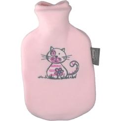 fashy Kinderwärmflasche mit Flauschbezug Rosa