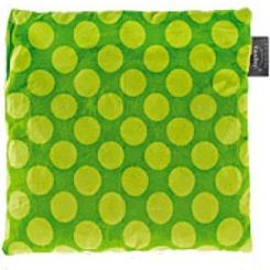 fashy Kirschkernkissen, gepunktet, grün