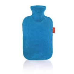 fashy Wärmflasche mit Nicki-Velour-Bezug uni
